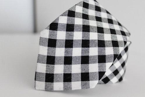 Necktie Black and White Soft Cotton