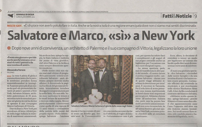 Matrimonio gay a New York