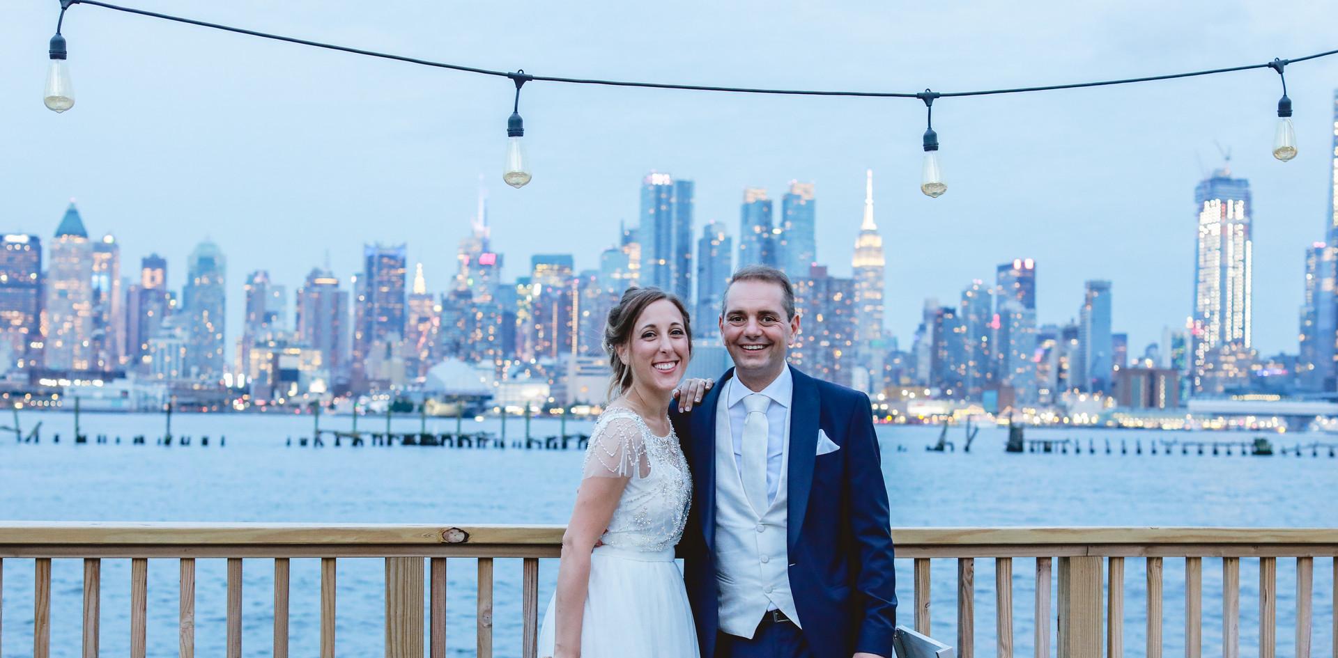 Ricevimento con vista sullo skyline di New York