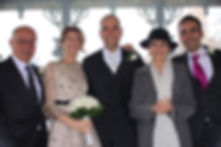 Sposarsi a New York Gli sposi insieme ai genitori