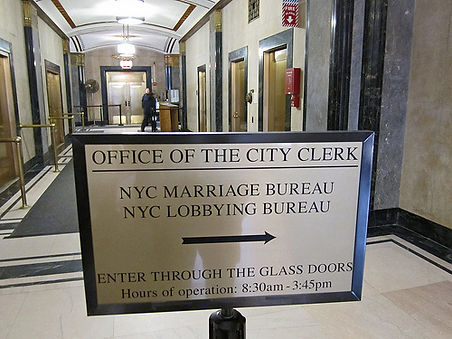 City Clerk, City Hall, Matrimonio Civile a New York