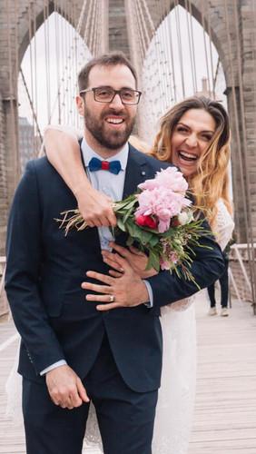 Sposi sul Ponte Brooklyn
