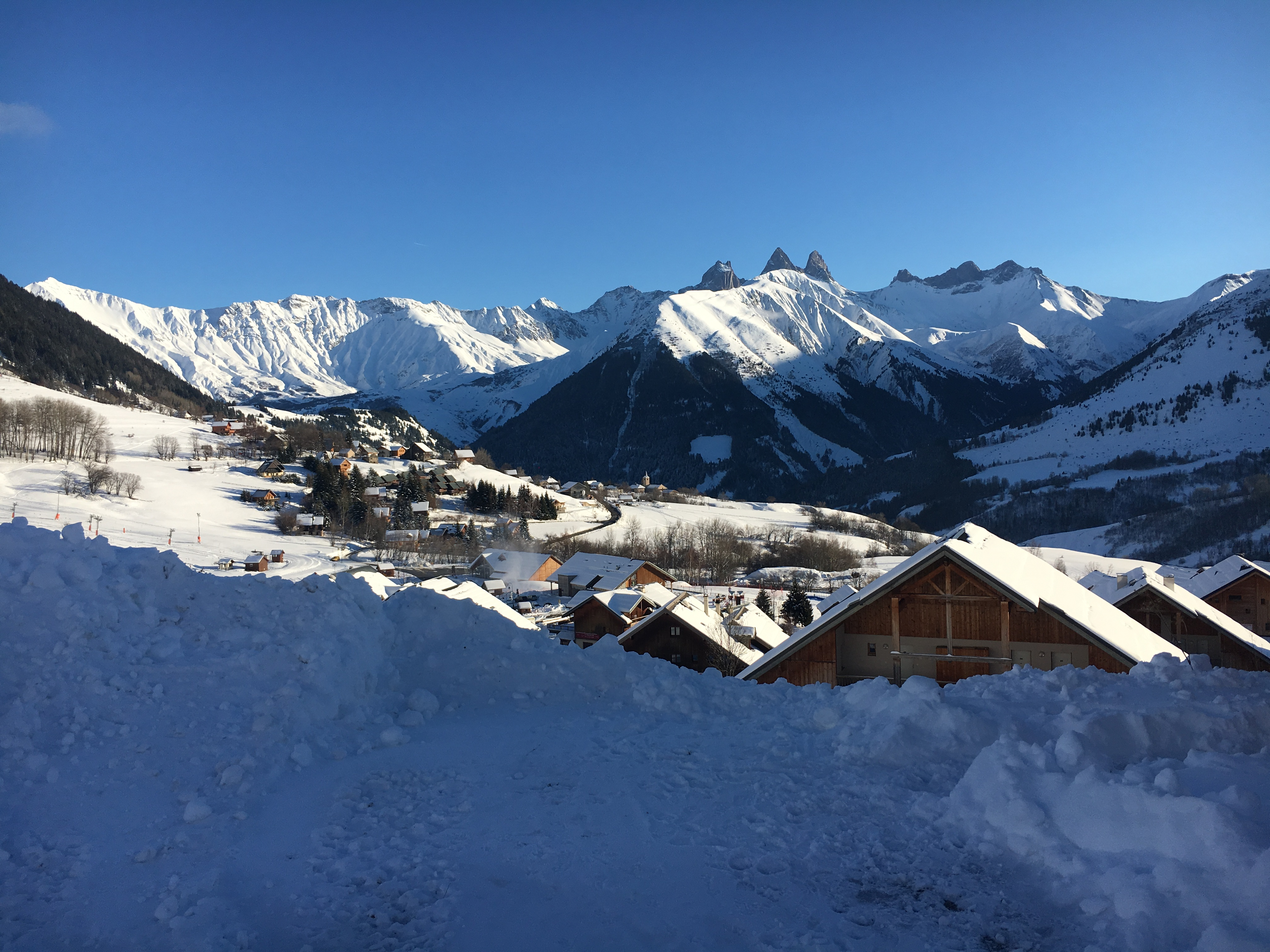 Vue départ ski