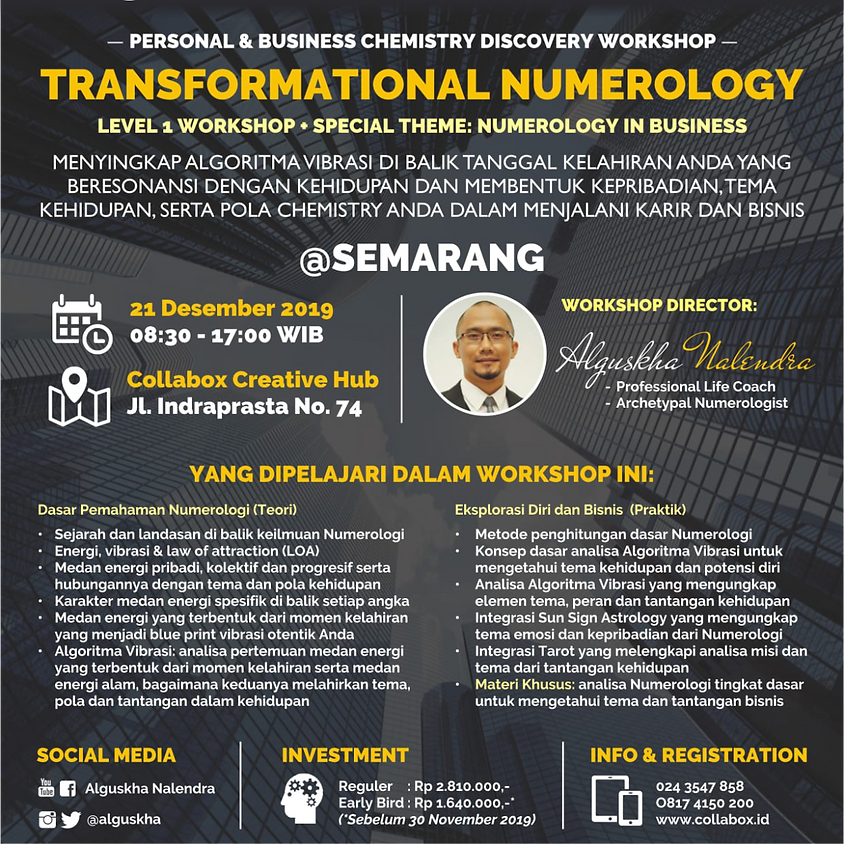 Numerology in Business Workshop