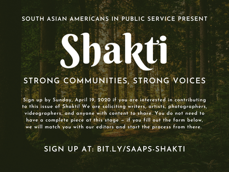 Contribute to Shakti: Strong Communities, Strong Voices!