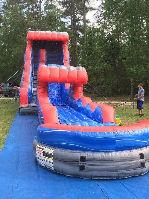 20' Water slide with slip & slide attachment