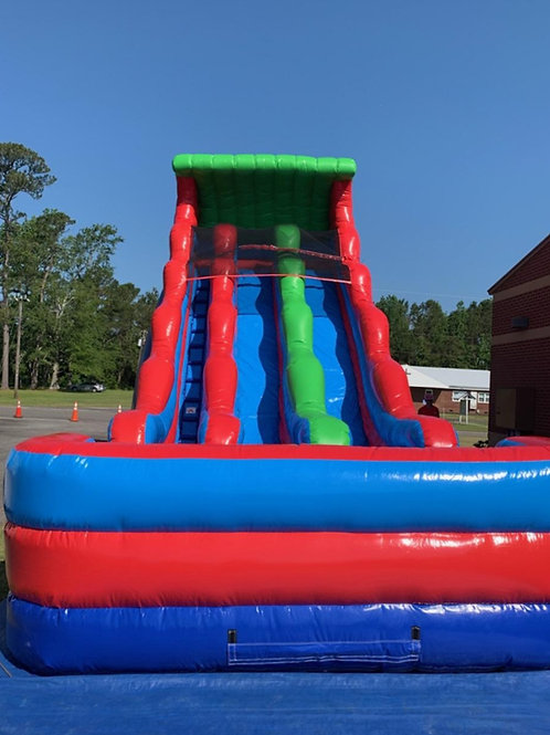 22' Dual Lane Water Slide