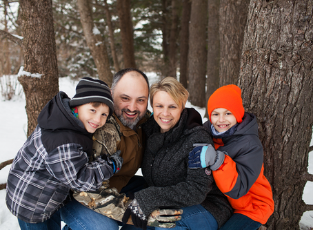 Family of 4 // Lifestyle Snow Session // Jacklyn Byrd Photography