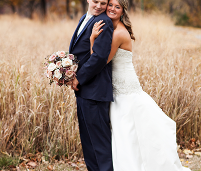 Wedding Holiday Inn & Suites East Peoria, Illinois // Pink & Navy Theme // Jeff & Natalie