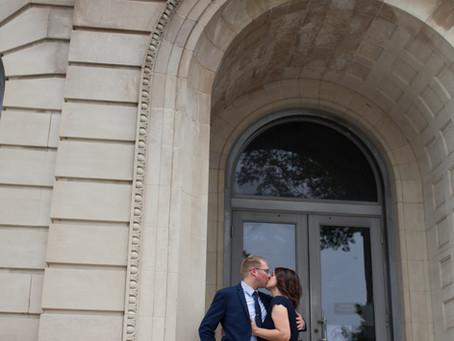 Elopement Wedding / Navy theme / Courthouse Wedding in Pekin, Illinois