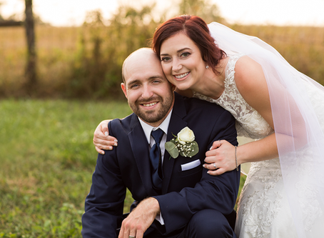 Jessie + Austin // Lewistown, Illinois // Fall Wedding //  Jacklyn Byrd Photography