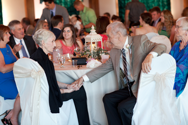 Wedding reception documentary moment at the Gateway Building in Peoria, Illinois