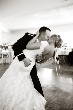 First Dance at Ravina on the Lakes Wedding in Peoria, Illinois