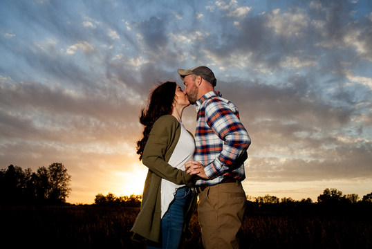 Sunset Engagement Session in Central Illinois by wedding photography Jacklyn Byrd Photography