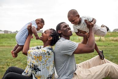 African American Family Washington Illinois