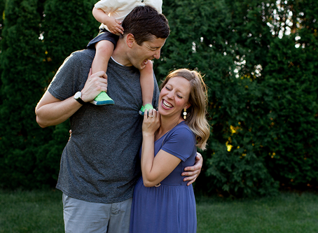 The M Family // Family Photo Session of 3 // Peoria, Illinois // Jacklyn Byrd Photography