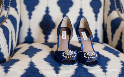 Something Blue wedding shoes in Illinois