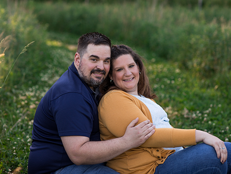 Missy + Mike // Peoria Summer Engagement Session // Jacklyn Byrd Photography