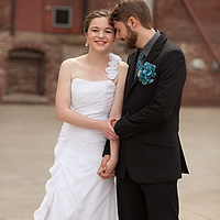 Wedding Couple at the Riverfront Museum in Peoria, Illinois Photo by Jacklyn Byrd Photography