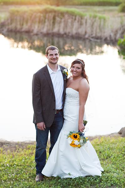 Wedding Couple at Proven Grounds in Pekin, Illinois