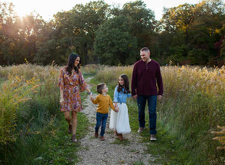 Family Sunset Fall Session // Peoria, Illinois // Jacklyn Byrd Photography