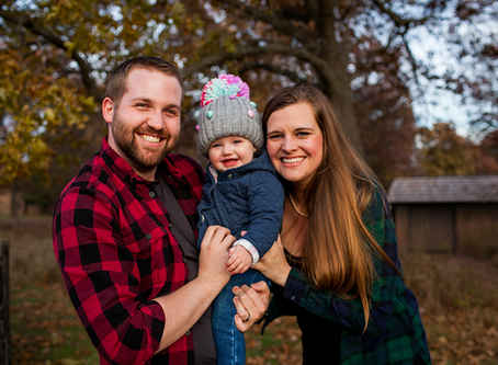 Fall Family Session 1 year old // The C Family // Jacklyn Byrd Photography
