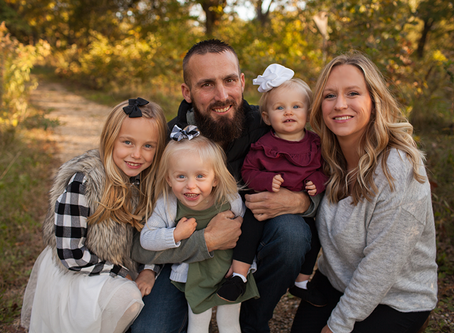 "Family of 5 // Fall Family Peoria Session // The ""F"" Family // Jacklyn Byrd Photography"