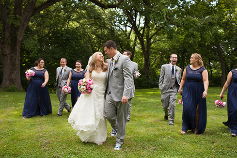 Bridal Party during a summer Wedding in Illinois