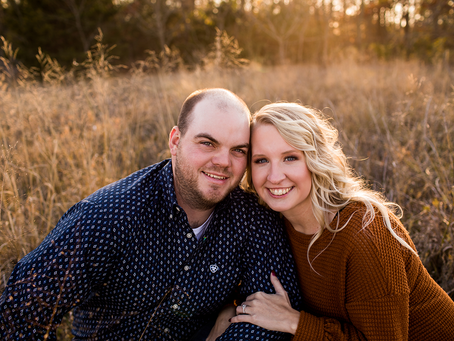 Katie + Andrew // Havana, Illinois // Farm Engagement // Jacklyn Byrd Photography