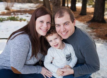 Winter Family of 3 // ICC Garden // Jacklyn Byrd Photography