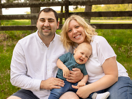 The M Family // Peoria, Illinois // 1 year Session // Jacklyn Byrd Photography