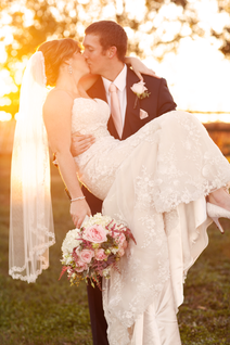 Sunset Wedding Couple in Illinois Photo by Jacklyn Byrd Photography
