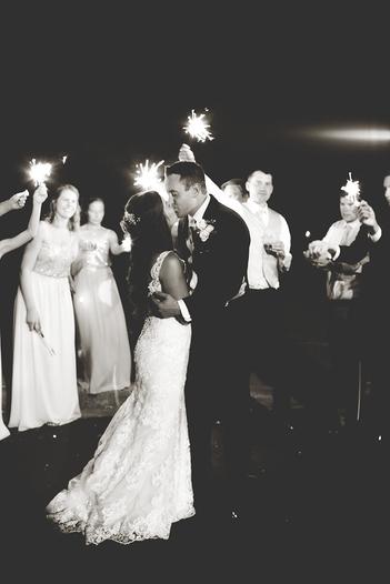 Sparkler wedding couple Peoria Illinois