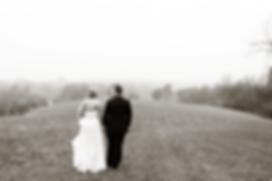 Bride & Groom walking in Metamora, Illinois Photo by Jacklyn Byrd Photography