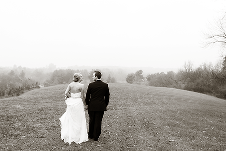 Bride & Groom walking in Metamora, Illinois Photo by Jacklyn Byrd Photography
