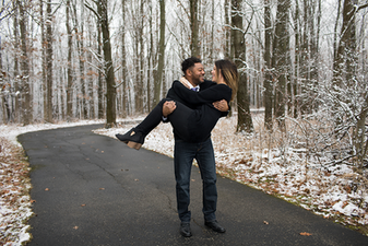 Winter Engagement Session In Peoria, Illinois