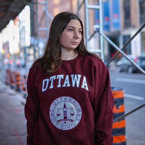 Crewneck / Champion / Marron / 'Logo Droit civil'