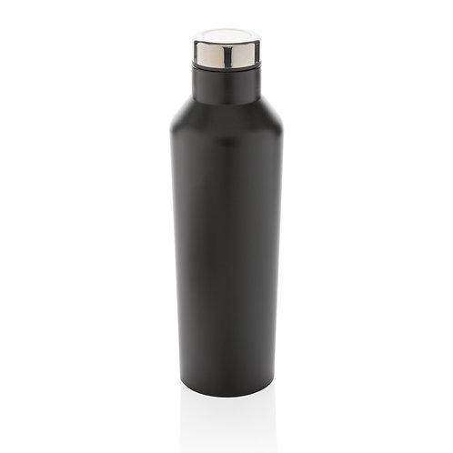 Botella de agua moderna de acero inoxidable al vacío negro