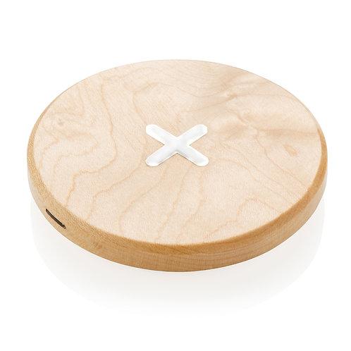 Cargador inalámbrico de madera de 5W