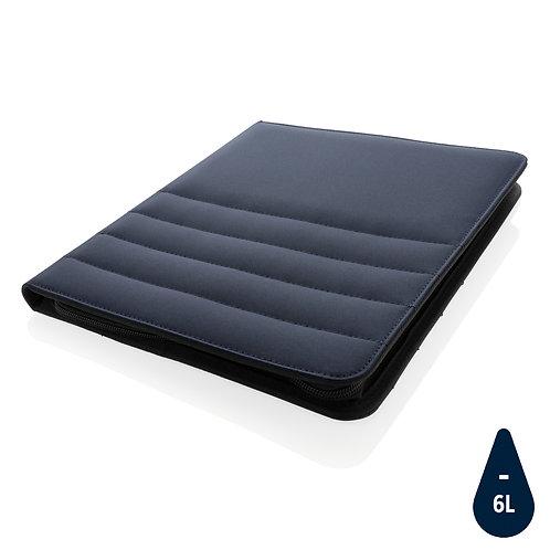 Carpeta RPET A4 con cremallera azul marino