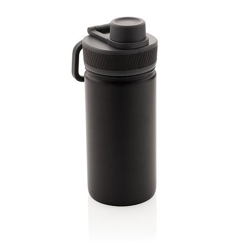 Botella de acero inoxidable al vacío con tapa deportiva 550m negro
