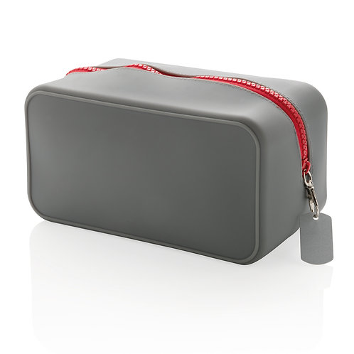 Neceser de silicona hermético gris, rojo