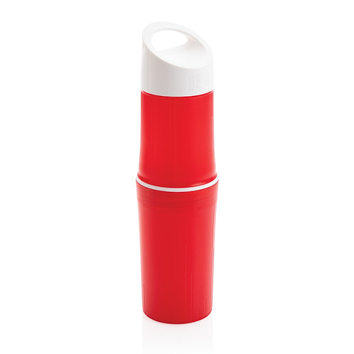 Botella BE O de agua orgánica, Fabricada en EU rojo