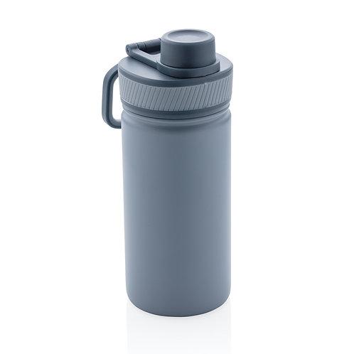 Botella de acero inoxidable al vacío con tapa deportiva 550m azul, azul