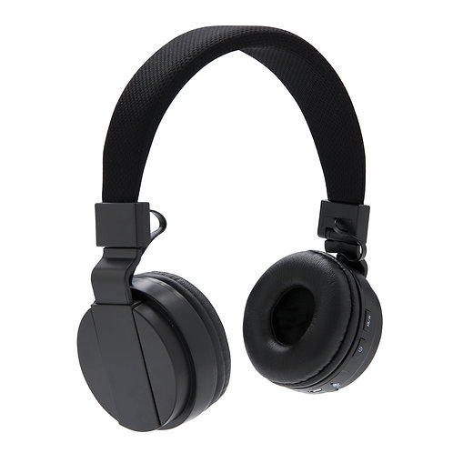 Auriculares sin cables plegables negro