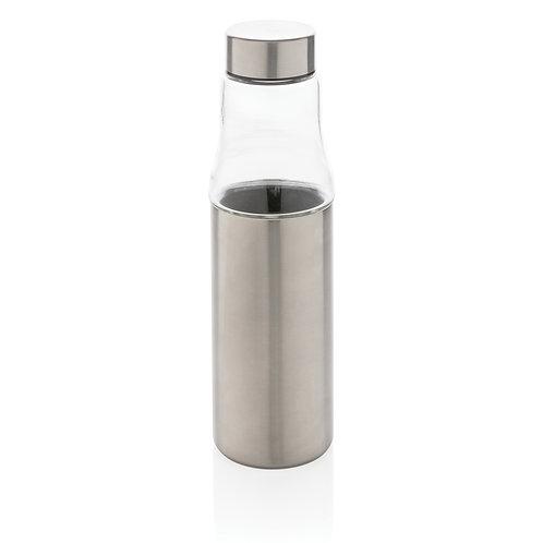 Botella antigoteo de cristal y al vacío plata