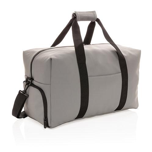 Bolsa de viaje de fin de semana de PU suave gris