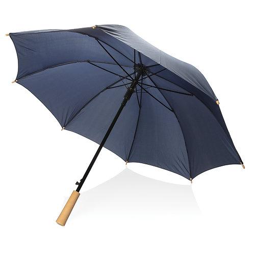 """Paraguas automático RPET a prueba de tormenta de 23"""" azul marino"""