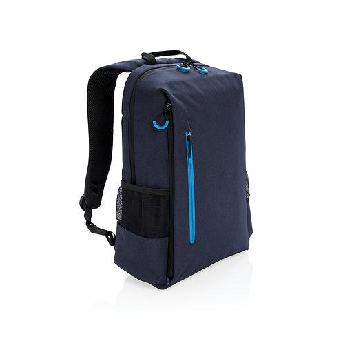 """Mochila libre de PVC para portátil 15,6"""" con RFID y USB azul marino, azul"""