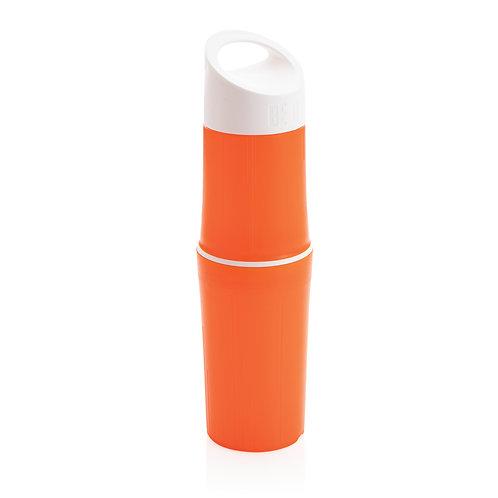 Botella BE O de agua orgánica, Fabricada en EU naranja